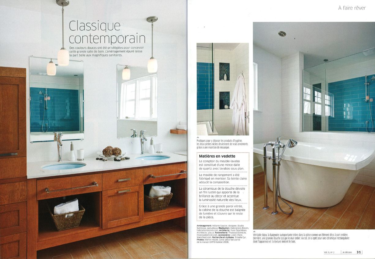 Habitations boivin about us press book 2010 2011 for Belles salle de bain